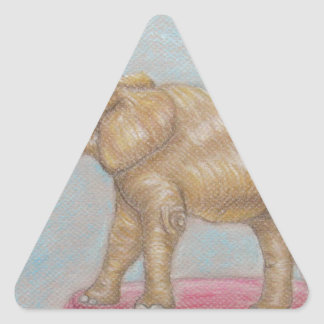 elephant in the circus triangle sticker