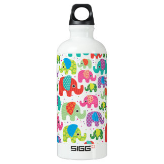 Elephant india pattern water bottle