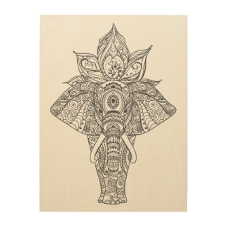 Elephant Inspired 9 Wood Print