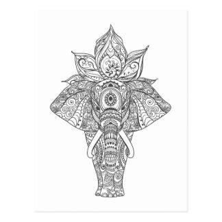 Elephant Inspired Postcard
