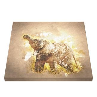 Elephant - It's Tea Time! Canvas Print