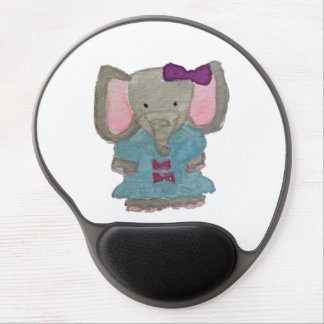 Elephant Jungle Friends Baby Animal Water Color Gel Mouse Pad