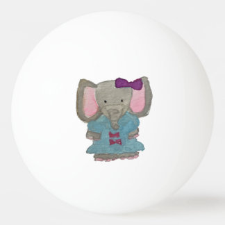 Elephant Jungle Friends Baby Animal Water Color Ping Pong Ball