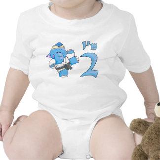 Elephant Karate 2nd Birthday Shirts