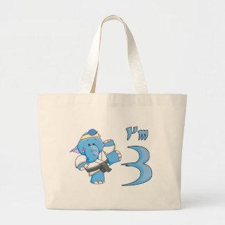 Elephant Karate 3rd Birthday Bags