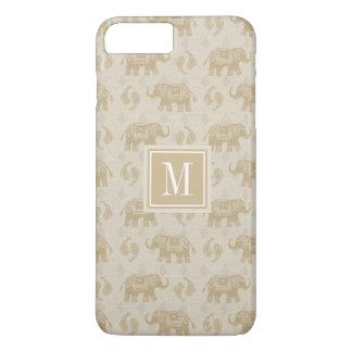 Elephant Khaki Caravan Pattern iPhone 8 Plus/7 Plus Case