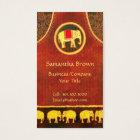 Elephant Kingdom Gold & Red Unique Business Cards