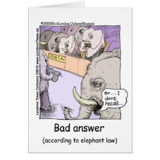 Elephant Lawyers Funny Tees Mugs Cards More Cards
