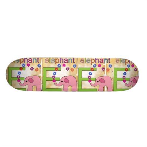 Elephant Letter E Skateboard