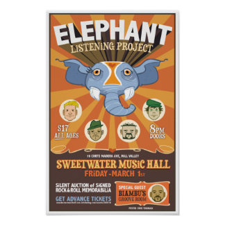Elephant Listening Project - Sweetwater Poster