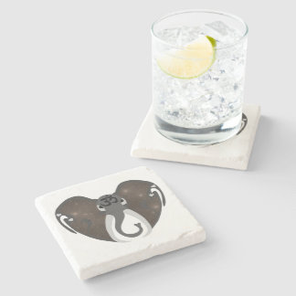 Elephant Listening to the Cosmos Stone Beverage Coaster