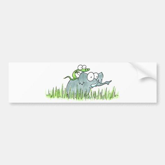 Elephant & Lizzard Bumper Sticker