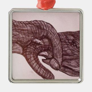 Elephant love christmas ornament