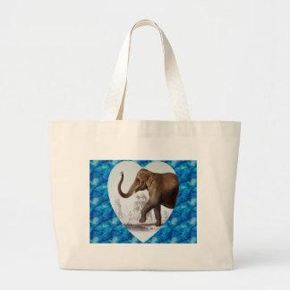 Elephant Love Large Tote Bag