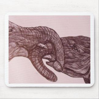 Elephant love mouse mat