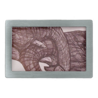 Elephant love rectangular belt buckle