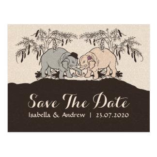 Elephant Love save the date Postcard
