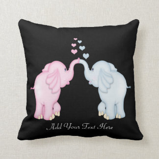 Elephant Love Throw Cushion