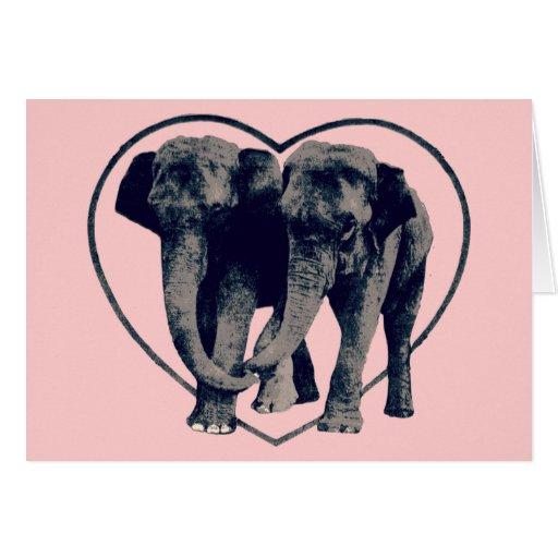 Elephant Love Valentine's Day Card