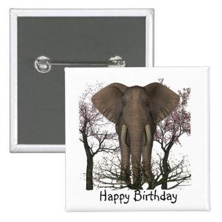 Elephant Lover Birthday 15 Cm Square Badge
