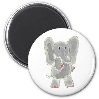 Elephant 6 Cm Round Magnet