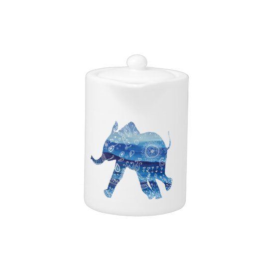 Elephant Mandala Art Small Teapot