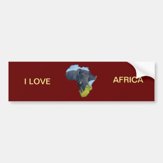 Elephant Map Bumper Sticker