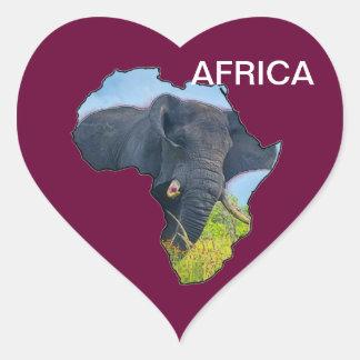 Elephant Map Heart Sticker