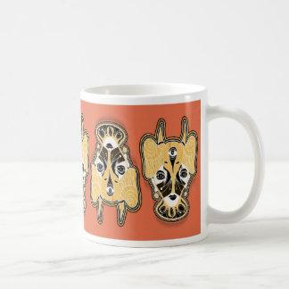 elephant mask basic white mug