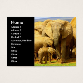 Elephant mom and calf Business Card