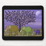 Elephant Moon Mouse Pad