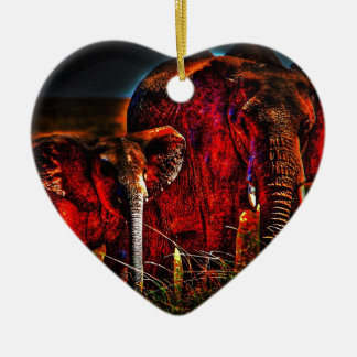 Elephant Mother And Calf Christmas Ornament