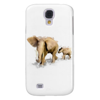 Elephant Mother & Child 1 Galaxy S4 Case
