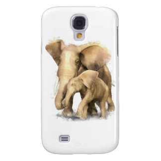 Elephant Mother Child Samsung Galaxy S4 Cases