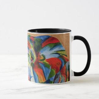 Elephant mug with colourful image