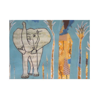Elephant Music Canvas Print
