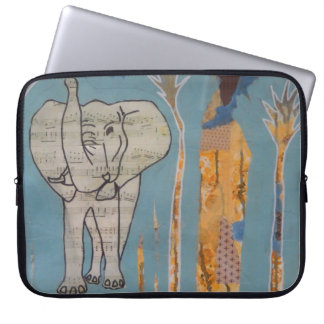 Elephant Music Laptop Sleeve