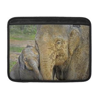 Elephant Newborn Mom Baby Hug MacBook Sleeves