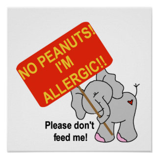 Elephant No Peanuts I m Allergic Posters