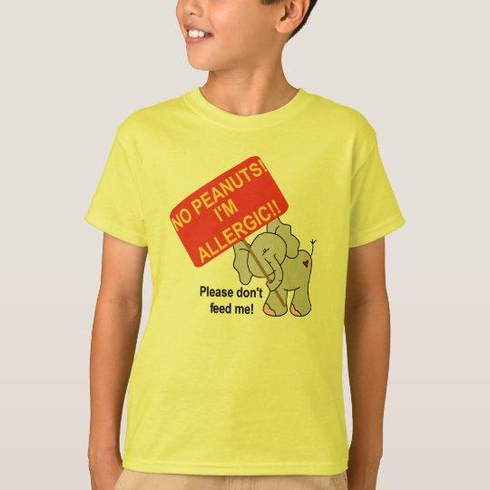 Elephant No Peanuts I'm Allergic T-Shirt