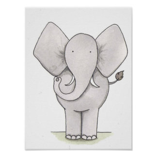 Elephant Nursery Art Poster