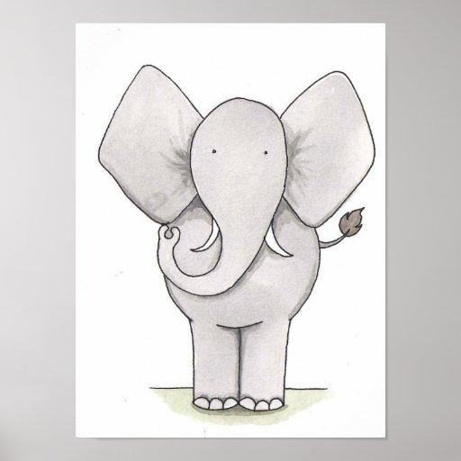 Elephant Nursery Art Posters