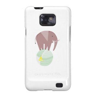 Elephant On Ball Samsung Galaxy S2 Cases