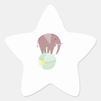 Elephant On Ball Star Sticker