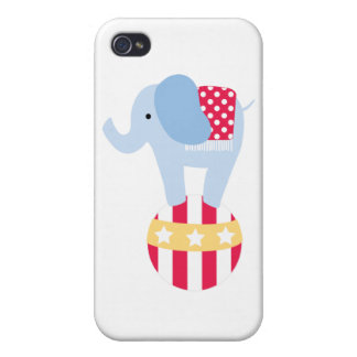 Elephant on Circus Ball iPhone 4 Case