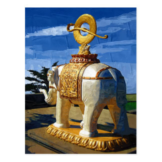 Elephant On Peak of Emai Shan Postcard