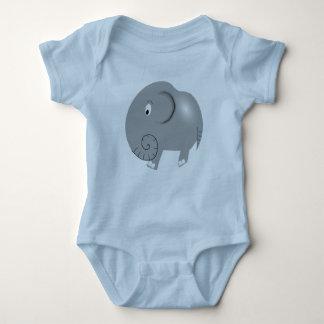 Elephant One Piece Baby Bodysuit