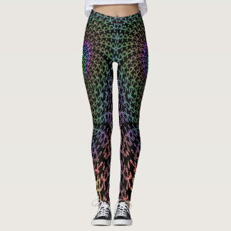 Elephant or fish abstract yoga leggings. leggings