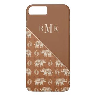 Elephant Orange Caravan Pattern iPhone 8 Plus/7 Plus Case