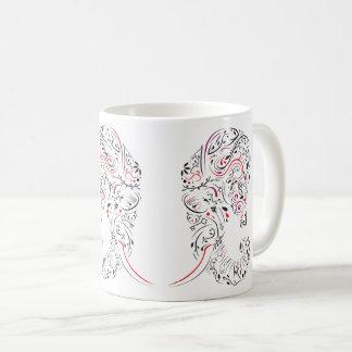 elephant ornate coffee mug